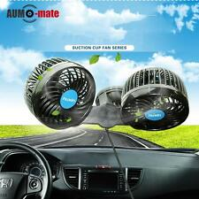 12V 360°Rotation Car Cooling Air Fan Silent Cooler Stepless 2 Speed Adjustable