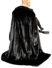L XL saga Mink abrigo vison swinger Dark fur coat visón abrigo abrigo de piel Pelz Fell