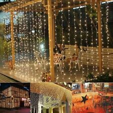 3Mx3M 300leds icicle led curtain string fairy light Warm White Christmas Wedding