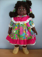 Doll Afro Caribbean Soft Bodied Doll Vinyl Face & Limbs Approx 19 In. Tall New