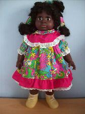 Poupée afro caribbean soft bodied doll vinyle visage & membres environ 19 dans. tall neuf