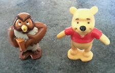 Disney Winnie The Pooh PVC hard plastic figures figurines Owl cake toppers