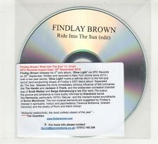 (HD681) Findlay Brown, Ride Into The Sun - 2015 DJ CD