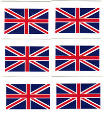 "UK - BRITAIN FLAG, Union Jack  (1 3/4"" x 1"")-6 Temporary Tattoos/ Flags,British"