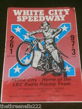 SPEEDWAY - WHITE CITY V KINGS LYNN - SEPT 21 1977