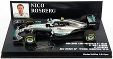 Minichamps Mercedes W07 Abu Dhabi 2016 - Nico Rosberg World Champion 1/43 Scale