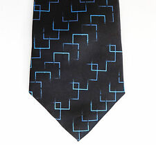 Black tie with blue pattern Cheap and cheerful men's accessories