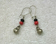 Earring w/Ancient Bedouins coins from Jerusalem Old city of Israel handmade  #10
