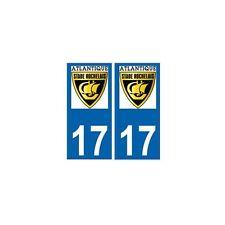 17 Atlantique stade rochelais rugby autocollant plaque La rochelle arrondis