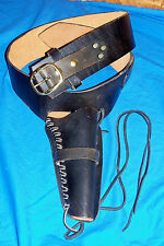 "Waist 41"" – 45"" Colt SAA 45 Gun Belt Holster Black Leather Pistol Cowboy Western"