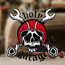 HOLY garage crossed wrenches HELMET Adesivi Sticker autocollante Hot Rod 110mm