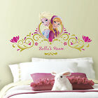 New Disney Princess ANNA ELSA Frozen PERSONALIZED HEADBOARD WALL DECALS Stickers