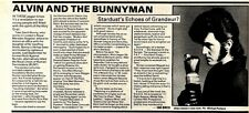 7/3/81PGN06 ALVIN STARDUST AND THE BUNNYMAN ARTICLE & PICTURE