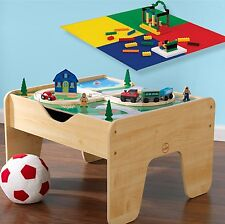 Kids Play Table Lego Builder Activity Toddler Toy Storage Train Set Daycare