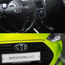 BRENTHON Horn Cap & Front & Rear New Emblems x 3 for Hyundai Veloster Turbo