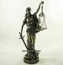 Roman Goddess Justitia Bronzed Statue Lawyers Figurine Sculpture la Justicia NEW