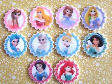 10 x Lovely Disney Princess Flatback Planar Resin, Embellishment, Hair bow UK