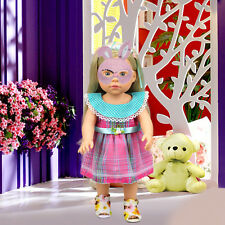 Plaid Dress Salon Doll Clothes For 16 Inch American Girl Dolls Gift Kids Toys