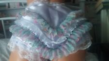 *NEW DESIGN** DOUBLE SATIN LILAC FRILLY PANTIES SISSY CD TV