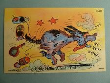 Dog w/ Cans on Tail Curt Teich Ray Walters Comic C-632 Vintage LINEN Postcard