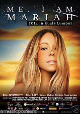 """MARIAH CAREY """"ME. I AM MARIAH 2014 IN KUALA LUMPUR"""" MALAYSIA CONCERT TOUR POSTER"""