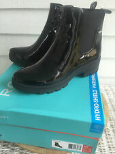 Rockport Lorraine II Lite Chelsea Waterproof Patent Vegan Leather Bootie Size 10