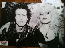 Punk A4 Poster Sid & Nancy Sex Pistols & Metallica on Back Page from Kerrang