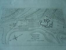 Les Ardennes Plan topographique Les Ruines d'Orval Planche 1857