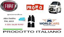 TAPPETINI TAPPETI IN MOQUETTE  CON 4 CLIP DI FISSAGGIO FIAT PANDA DAL 2013 LOGO