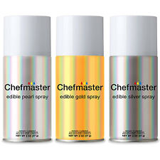 Chefmaster 3 Color Edible Spray Food Coloring Set - 2-Ounce Cans