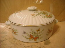 BUTTERFLY CASSEROLE COVERED DISH W/LID  ECSTASY PATTERN SHAFFORD COMPANY IOB