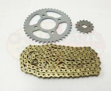 Heavy Duty Chain & Sprockets Set GOLD to fit Kinroad XT125-16 Cyclone