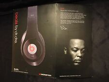 Beats By Dr Dre Studio Wired Over-Ear - Black with Red - Full Accessories & Case