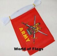 BRITISH ARMY FLAG BUNTING 9m 30 Fabric Flags Armed Forces Day Support Our Troops