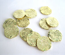 12 Gold Pirate Doubloons Coins Pieces of Eight Treasure Costume Props