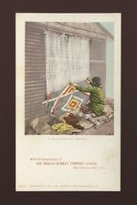 USA ethnic INDIANS Navajo Blanket Weaver Advert Iron-Ox c1902 u/b PPC