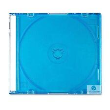 25 CD SINGOLA JEWEL CASE 5.2 mm SPINA SLIM VASSOIO BLU NUOVO VUOTO COPERTURA DI RICAMBIO