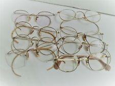 Lot of 8 Pair of 12K Gold Filled Antique Vintage Eyeglasses