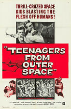 TEENAGERS FROM OUTER SPACE original 1959 SCI-FI one sheet movie poster 27x41