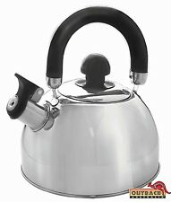 Stainless Steel Whistling Kettle 2.5 Lt Kitchen Camping Outdoor Portable Camp RV