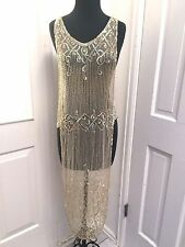Gorgeous Pearlized Beaded 1920's Dress Chemise From My Collection