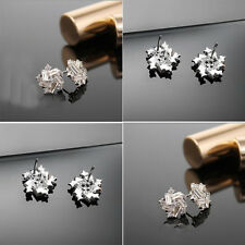 Vogue Windmill Vintage Fashion Ear Stud 925 Sterling Silver Earrings Jewelry