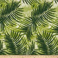Green Palm Fronds Outdoor Tropical Fabric, Tommy Bahama Escape Route Jade Fabric