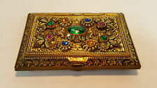 ULTRA RARE PRINZESS CZECH GEM & ENAMEL COMBINATION POWDER COMPACT CIGARETTE CASE