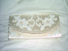 White Silk and Beaded Evening Clutch-Purse
