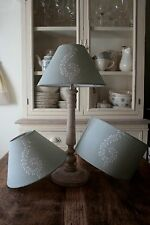 Lampshade in Fabulous Susie Watson Large Shalini Duck Egg 25cm Diameter Linen