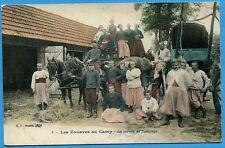CPA: Les Zouaves au Camp - La corvée de fourrage