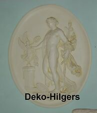 Relief Apollo mit Nike Oval Wandbild Bild Amor Engel Stuck Crem Optik 2652 F70