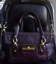 AUTH COACH KRISTIN SPECTATOR LEATHER TOTE BAG PURSE 18282 PLUM/PURPLE $458 RARE