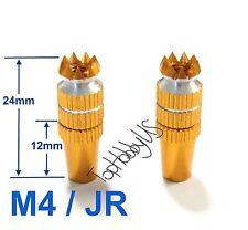 1Set M4 Thumb Stick Upgrade for JR Transmitter, Golden Color US TH016-03001F